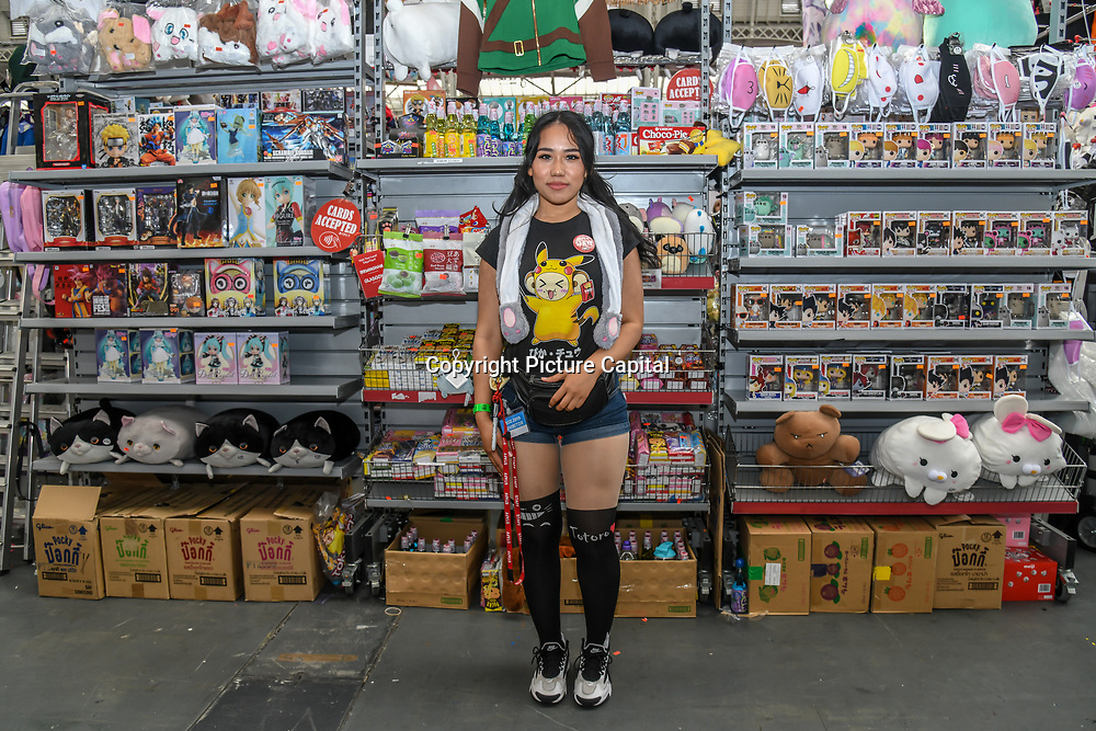 Hyper Japan Festival 2019 - Day 2 which features shopping, entertainment, cosplay, fashion and food from Japan on 13 July 2019, Olympia London, UK.