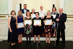 Lincolnshire Co-op long service awards 2018.<br /> BACK ROW, FROM LEFT: Roger Brown (General Maintenance Manager at Property Maintenance Lincoln), Helen Clarke (Checking Technician at Donnington Pharmacy), Simon Waite (Food Regional Manager at GMT) and Bridget Brown (Team Leader at Barnbygate Newark Food Store).<br /> FRONT ROW, from left, Lincolnshire Co-operative chief executive Ursula Lidbetter, Carole Green (Stocktaker at Stocktaking Team Lincoln), Tracey Bancroft (Dispensing Technician at Tower Lincoln Pharmacy), Tracy Modd (Post Office Counter Clerk at Whaplode Filling Station), Natasha Gidley (Professional Development Manager at GMT) and Lincolnshire Co-operative president Steve Hughes.<br /> <br /> Picture: Chris Vaughan Photography for Lincolnshire Co-op<br /> Date: September 20, 2018