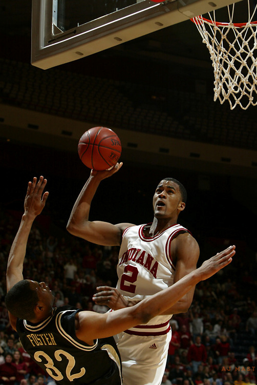 Indiana's James Hardy as Indiana lost 67-60 to Vanderbilt in the opening round of the 2005 NIT at Assembly Hall in Bloomington, Ind., Wednesday, March 15, 2005.  (Mandatory Credit: AJ Mast/Ronin Images)......***LOW RES FPO ONLY, HIGH RES AVALIBLE OFFLINE***