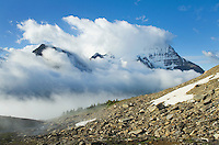 Mount Robson 3,954 m (12,972 ft) from Mumm Basin, Mt. Robson Provincial Park British Columbia Canada