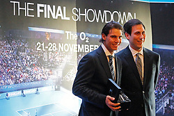 19.11.2010, Marriott County hall, London, ENG, ATP World Tour, Finals, im Bild Nadal, Rafael (ESP). EXPA Pictures © 2010, PhotoCredit: EXPA/ InsideFoto/ Hasan Bratic +++++ ATTENTION - FOR AUSTRIA/AUT, SLOVENIA/SLO, SERBIA/SRB an CROATIA/CRO CLIENT ONLY +++++