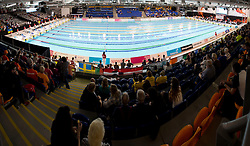 View of pool from spectator tribunes  at 2015 IPC Swimming World Championships -