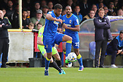 AFC Wimbledon midfielder Tom Soares (14) controlling the ball and starting an attack during the EFL Sky Bet League 1 match between AFC Wimbledon and Peterborough United at the Cherry Red Records Stadium, Kingston, England on 17 April 2017. Photo by Matthew Redman.