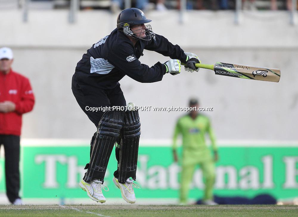 Scott Styris during the 3rd ODI, Black Caps v Pakistan, One Day International Cricket. AMI Stadium, Christchurch, New Zealand. Saturday 29  January 2011. Photo: Andrew Cornaga/photosport.co.nz