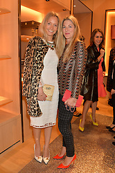 Left to right, MARTHA WARD and REBECCA MARKS at the opening party for Moynat's new Maison de Vente in Mayfair at 112 Mount Street, London W1 on 12th March 2014.