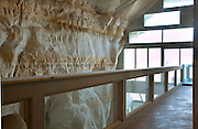 """Festus, Missouri: Looking from the back of the cave along the second-floor balcony/walkway outside of the three bedrooms of the Sleeper """"cave house."""" It is built inside a 17,000 square foot cave in this small town south of St. Louis. (Photo: Ann Summa)"""