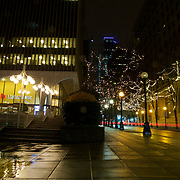 A drizzly evening along 5th Ave downtown.