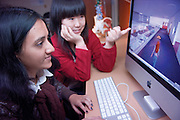 08-18577..College of Engineering Classroom shots..Tripura Vadlamani(brown), Shijie Huang(red)