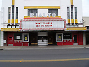 Abandoned Rialto Theatre in Beeville, Texas. The Rialto opened in 1922 and first closed in 1986. Efforts are underway to fund its refurbishment.