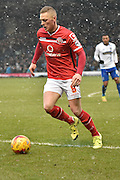 Walsall Midfielder, Sam Mantom in the midst of the action  during the Sky Bet League 1 match between Bury and Walsall at Gigg Lane, Bury, England on 16 January 2016. Photo by Mark Pollitt.