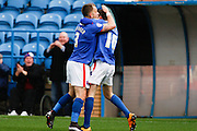 Carlisle United Midfielder Jack Stacey Celebrates the opening goal during the Sky Bet League 2 match between Carlisle United and Bristol Rovers at Brunton Park, Carlisle, England on 28 March 2016. Photo by Craig McAllister.