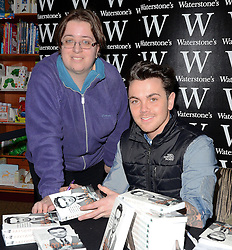 Ray Quinn signs copies of his new book 'This Time Round at Watestones, Colchester, Essex on Saturday 7 March 2015 <br />