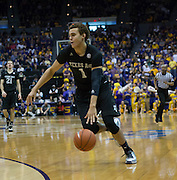 D.J. Hogg (1) of Texas A&M slashes to the basket. LSU defeats Texas A&M 76-71 in Baton Rouge, Louisiana. Photo BY: Jerome Hicks/ Space City Images