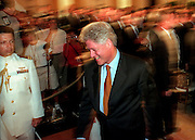 US President Bill Clinton walks out of a White House event August 17, 1999 in Washington, DC.
