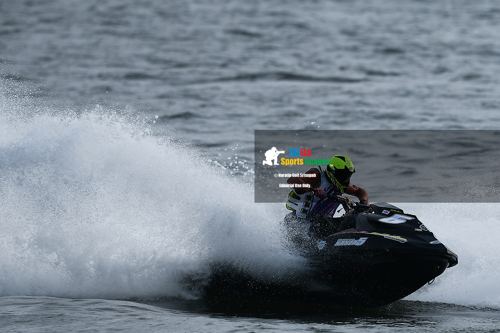 PATTAYA, THAILAND - DECEMBER 09: Gyorgy Kasza (5) of Hungary and Kasza Racing in action during the Pro Runabout GP Moto4 at the Thai Airways International Jet Ski World Cup 2018, Jomtien Beach, Pattaya, Thailand on December 09, 2018. <br /> .<br /> .<br /> .<br /> (Photo by: Naratip Golf Srisupab/SEALs Sports Images)<br /> .<br /> Any image use must include a mandatory credit line adjacent to the content which should read: Naratip Golf Srisupab/SEALs Sports Images