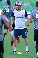 MELBOURNE, VICTORIA - JANUARY 06: Newcastle Jets conditioning coach Chris Smith looks on at the Hyundai A-League Round 11 soccer match between Melbourne City FC and Newcastle Jets on at AAMI Park in NSW, Australia 06 January 2019. (Photo by Speed Media/Icon Sportswire)