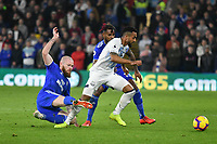 Football - 2018 / 2019 Premier League - Cardiff City vs. Everton<br /> <br /> Theo Walcott of Everton brought down by  Aron Gunnarsson of Cardiff City, at Cardiff City Stadium.<br /> <br /> COLORSPORT/WINSTON BYNORTH