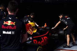 August 24, 2017 - Spa, Belgium - Red Bull Tag Heuer mechanics working on the car during the Formula One Belgian Grand Prix at Circuit de Spa-Francorchamps on August 24, 2017 in Spa, Belgium. (Credit Image: © Xavier Bonilla/NurPhoto via ZUMA Press)