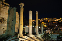 Athens, Greece.  Ruins in the Ancient Agora of Athens.