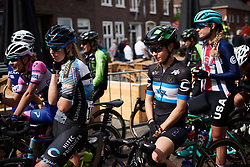 Omer Shapira (ISR) waits on the start line at Boels Ladies Tour 2018 - Stage 3, a 129km road race in Gennep, Netherlands on August 30, 2018. Photo by Sean Robinson/velofocus.com
