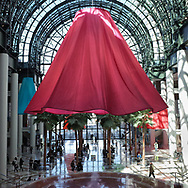 Soft Spin, A sculptural installation by Heather Nicol at Brookfield Place in Battery Park City.
