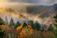 USA, Deep South, Tennessee, Great Smokey Mountains, National Park, sunrise