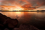 """Sand Harbor Sunset Paddle 5"" - Stand Up Paddleboards at Sand Harbor, Lake Tahoe, Nevada"