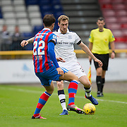 Dundee&rsquo;s Kevin Holt and Inverness&rsquo; Brad McKay - Inverness Caledonian Thistle v Dundee in the Ladbrokes Scottish Premiership at Caledonian Stadium, Inverness. Photo: David Young<br /> <br />  - &copy; David Young - www.davidyoungphoto.co.uk - email: davidyoungphoto@gmail.com