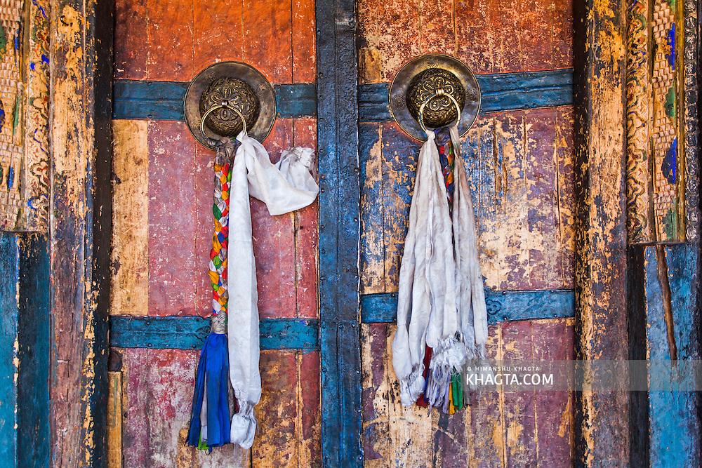 Door of Thiksey Monestary, Ladakh