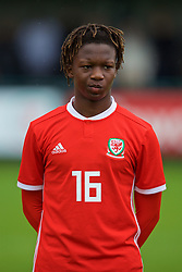 NEWPORT, WALES - Monday, October 14, 2019: Wales' Tivonge Rushesha lines-up before an Under-19's International Friendly match between Wales and Austria at Dragon Park. (Pic by David Rawcliffe/Propaganda)