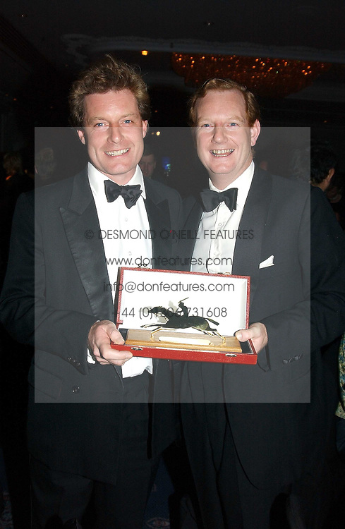Left to right, the HON.PETER STANLEY and his brother the EARL OF DERBYat the 2004 Cartier Racing Awards in association with the Daily Telegraph, held at the Four Seasons Hotel, London on 17th November 2004.<br /><br />NON EXCLUSIVE - WORLD RIGHTS