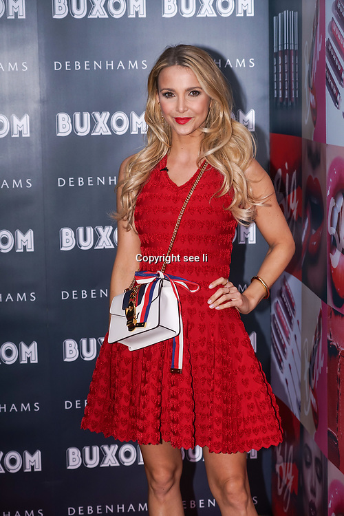 London,England,UK.12th April 2017. Sophie Hermann attends the Buxom - UK launch party in London. by See Li