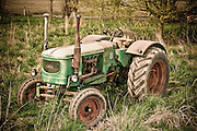 Deutz antique tractor photographed for Skagit Valley, WA. farmer.