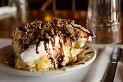 A slice of Snickers Cream Pie seen Tuesday, Sept. 4, 2007 at Breitbach's Country Dining in Balltown, Iowa. Photo by Scott Morgan