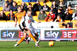 Johnny Russell of Derby County is tackled by David Edwards of Wolverhampton Wanderers - Mandatory by-line: Robbie Stephenson/JMP - 05/11/2016 - FOOTBALL - Molineux - Wolverhampton, England - Wolverhampton Wanderers v Derby County - Sky Bet Championship