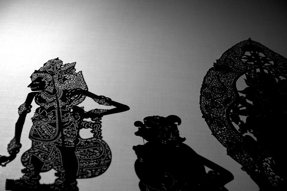 Wayang Kulit - (Shadow Puppets) Kuningan Festival  Bali  Indonesia