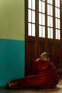Young novice monk at monastery