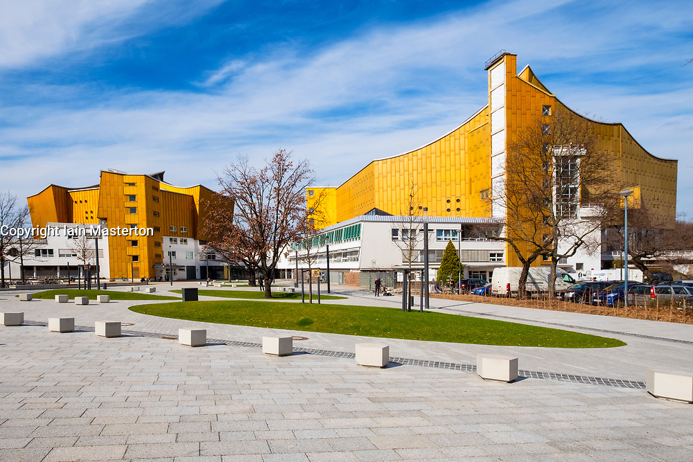 View of Berlin Philharmonie concert halls, home of Berlin Philharmonic orchestra in Berlin, Germany