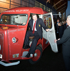 CARDIFF, WALES - Tuesday, October 7, 2008: Wales' manager John Toshack at the Brains Beer Wales Football Awards at the Millennium Stadium. (Photo by David Rawcliffe/Propaganda)