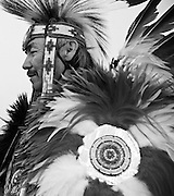 Tommy Draper, a Navajo Fancy Dancer from Kirtland, New Mexico, participates in the 44th Annual Hozhoni Days Powwow at Fort Lewis College, Durango, Colorado.