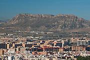 City of Alicante and Fontcalent mountain, Alicante,Costa Blanca,Valencia, Spain