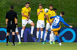 Dario Vizinger of Celje against players of Bravo during football match between NK Bravo and NK Celje in 13th Round of Prva liga Telekom Slovenije 2019/20, on October 5, 2019 in ZAK stadium, Ljubljana, Slovenia. Photo by Vid Ponikvar / Sportida
