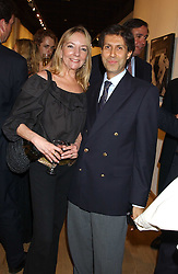 ALEXANDER BARANI and CHRISTINE CAZENAVE at an exhibition of photographs by Robin Douglas-Home entitled 'The Sixties Set' held at The Air Gallery, 32 Dover Street, London W1 on 28th June 2005.<br />