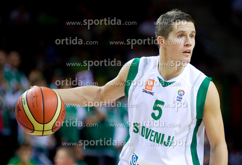 Jaka Lakovic of Slovenia during basketball game between National basketball teams of Slovenia and Serbia in 7th place game of FIBA Europe Eurobasket Lithuania 2011, on September 17, 2011, in Arena Zalgirio, Kaunas, Lithuania. Slovenia defeated Serbia 72 - 68 and placed 7th. (Photo by Vid Ponikvar / Sportida)