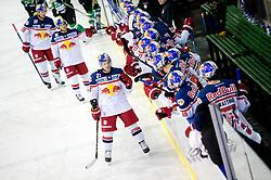 Brett Sterling of EC RBS celebrate during ice-hockey match between HDD Tilia Olimpija and EC Red Bull Salzburg in EBEL league, on January 10, 2016 at Hala Tivoli, Ljubljana, Slovenia. Photo by Morgan Kristan / Sportida
