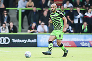 Forest Green Rovers Farrend Rawson(6) passes the ball forward during the EFL Sky Bet League 2 match between Forest Green Rovers and Newport County at the New Lawn, Forest Green, United Kingdom on 31 August 2019.