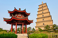 Chine, province du Shaanxi, ville de Xi'an, Grande Pagode de l'Oie Sauvage // China, Shaanxi province, Xian, Wild Goose Pagoda (Giant Wild Goose Pagoda)