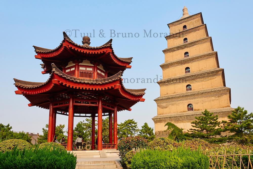 Chine, province du Shaanxi, ville de Xi'an, Grande Pagode de l'Oie Sauvage // China, Shaanxi province, Xian, Wild Goose Pagoda (Giant Wild Goose Pagoda)