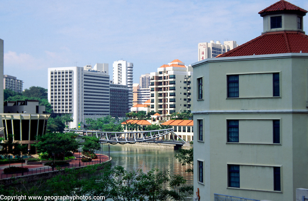 Modern apartments and offices along the Singapore river