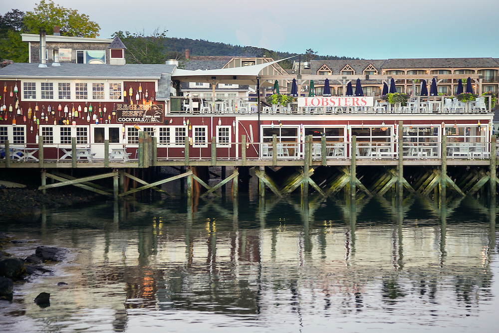 A picturesque pier in Bar Harbor, Maine